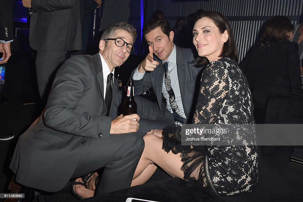 Actors Leland Orser, Richard Armitage and Michelle Forbes attend EPIX 'Berlin Station' LA premiere at Milk Studios on September 29, 2016 in Los Angeles, California.