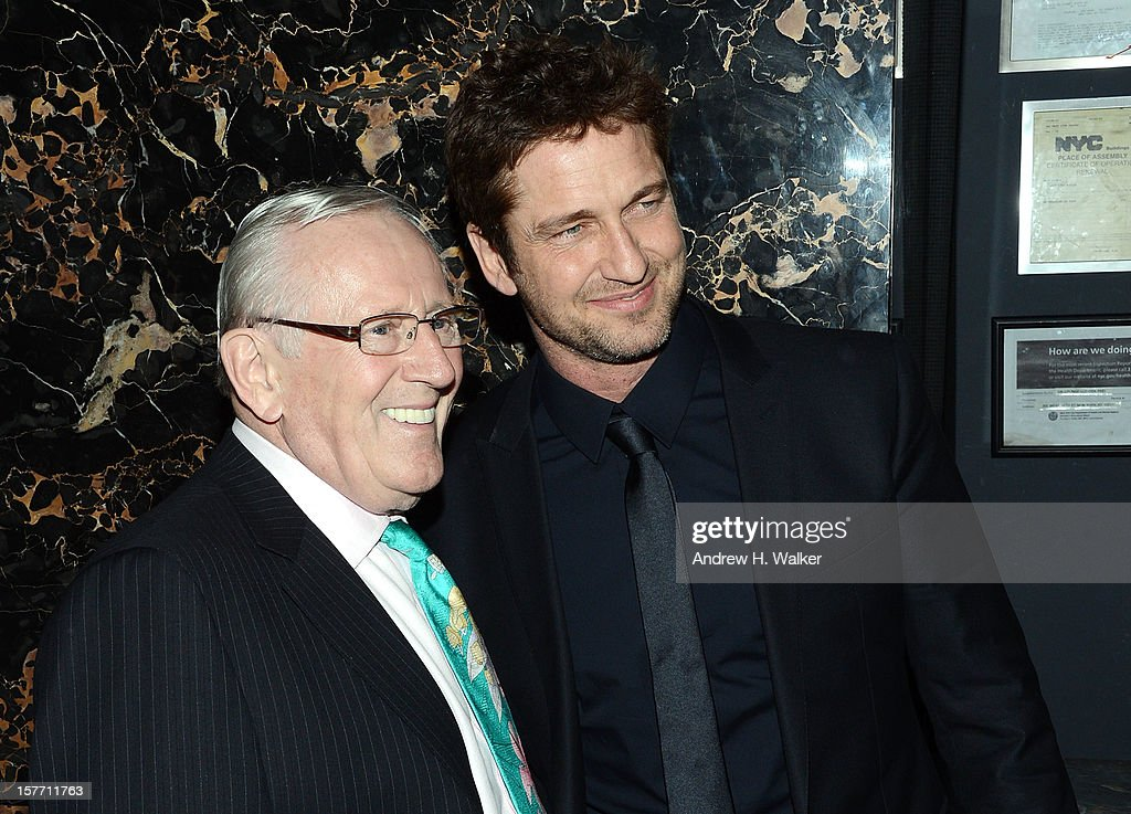 Actors Len Cariou and Gerard Butler attend the Film District and Chrysler with The Cinema Society premiere of 'Playing For Keeps' after party at Dream Downtown on December 5, 2012 in New York City.