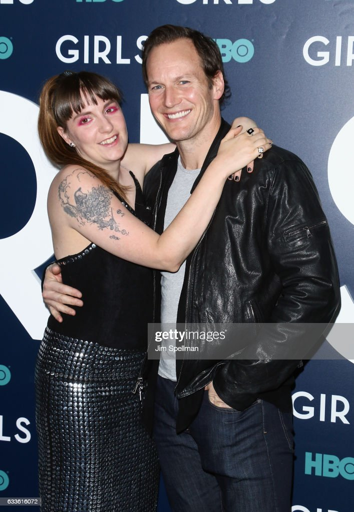 Actors Lena Dunham and Patrick Wilson attend the the New York premiere of the sixth and final season of 'Girls' at Alice Tully Hall, Lincoln Center on February 2, 2017 in New York City.