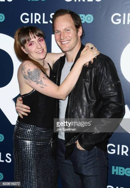 Actors Lena Dunham and Patrick Wilson attend the the New York premiere of the sixth and final season of 'Girls' at Alice Tully Hall Lincoln Center on...