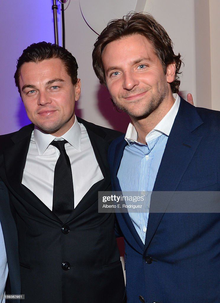 Actors Leonardo DiCaprio and Bradley Cooper attend the 2nd Annual Sean Penn and Friends Help Haiti Home Gala benefiting J/P HRO presented by Giorgio Armani at Montage Hotel on January 12, 2013 in Los Angeles, California.