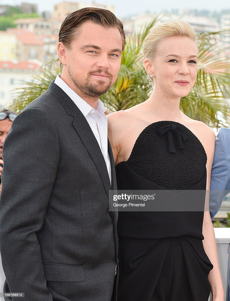 Actors <a gi-track='captionPersonalityLinkClicked' href=/galleries/search?phrase=Leonardo+DiCaprio&family=editorial&specificpeople=201635 ng-click='$event.stopPropagation()'>Leonardo DiCaprio</a> and <a gi-track='captionPersonalityLinkClicked' href=/galleries/search?phrase=Carey+Mulligan&family=editorial&specificpeople=2262681 ng-click='$event.stopPropagation()'>Carey Mulligan</a> attend the photocall for 'The Great Gatsby' at The 66th Annual Cannes Film Festival at Palais des Festivals on May 15, 2013 in Cannes, France.