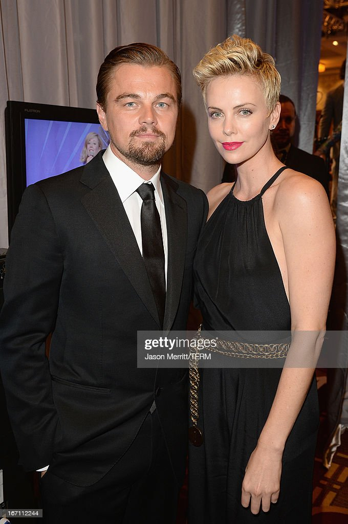 Actors <a gi-track='captionPersonalityLinkClicked' href=/galleries/search?phrase=Leonardo+DiCaprio&family=editorial&specificpeople=201635 ng-click='$event.stopPropagation()'>Leonardo DiCaprio</a> and <a gi-track='captionPersonalityLinkClicked' href=/galleries/search?phrase=Charlize+Theron&family=editorial&specificpeople=171250 ng-click='$event.stopPropagation()'>Charlize Theron</a> attend the 24th Annual GLAAD Media Awards at JW Marriott Los Angeles at L.A. LIVE on April 20, 2013 in Los Angeles, California.