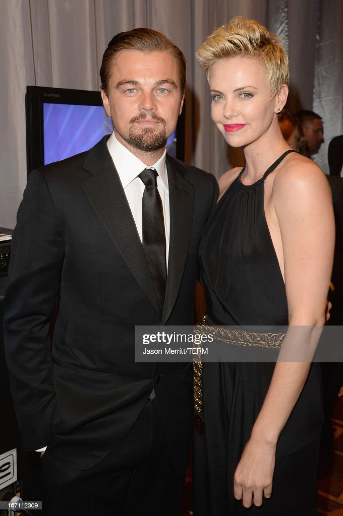 Actors Leonardo DiCaprio and Charlize Theron attend the 24th Annual GLAAD Media Awards at JW Marriott Los Angeles at L.A. LIVE on April 20, 2013 in Los Angeles, California.