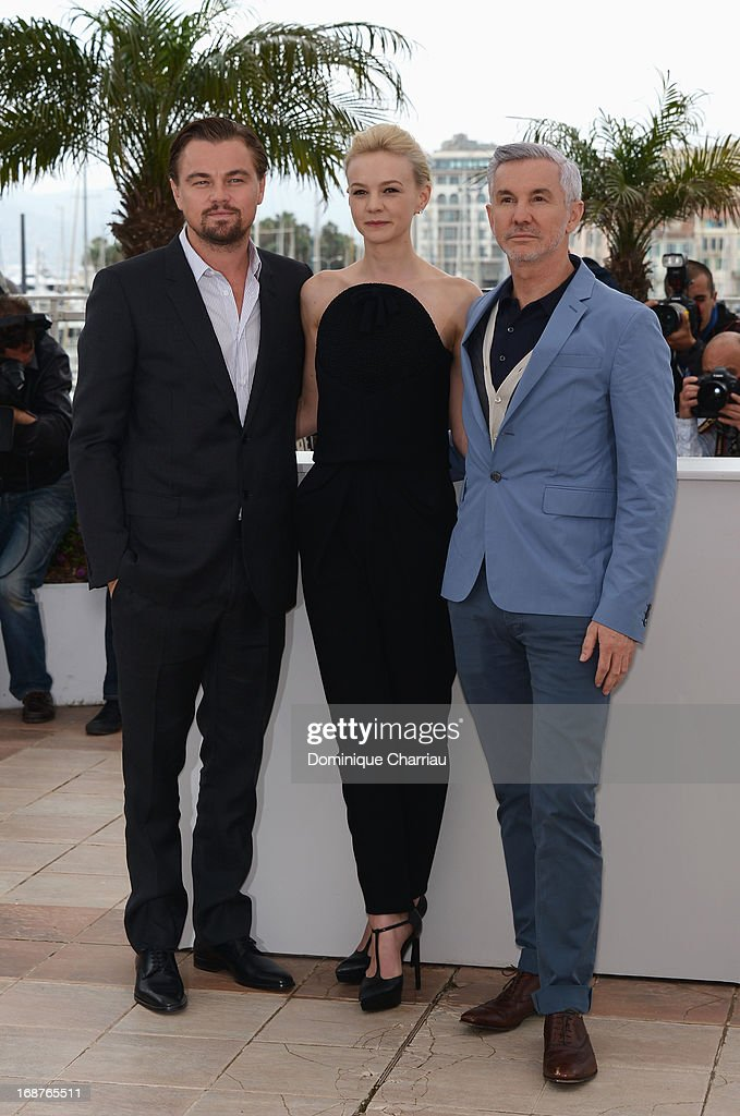 Actors <a gi-track='captionPersonalityLinkClicked' href=/galleries/search?phrase=Leonardo+DiCaprio&family=editorial&specificpeople=201635 ng-click='$event.stopPropagation()'>Leonardo DiCaprio</a>, <a gi-track='captionPersonalityLinkClicked' href=/galleries/search?phrase=Carey+Mulligan&family=editorial&specificpeople=2262681 ng-click='$event.stopPropagation()'>Carey Mulligan</a> and director <a gi-track='captionPersonalityLinkClicked' href=/galleries/search?phrase=Baz+Luhrmann&family=editorial&specificpeople=209230 ng-click='$event.stopPropagation()'>Baz Luhrmann</a> attend the photocall for 'The Great Gatsby' at the 66th Annual Cannes Film Festival at Palais des Festivals on May 15, 2013 in Cannes, France.