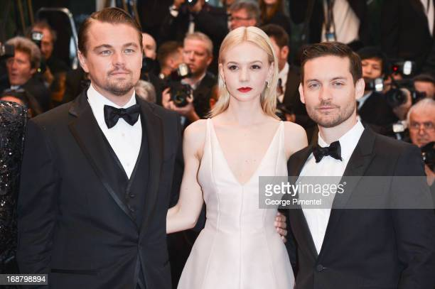 Actors Leonardo DiCaprio Carey Mulligan and Tobey Maguire attend the Opening Ceremony and Premiere of 'The Great Gatsby' at The 66th Annual Cannes...