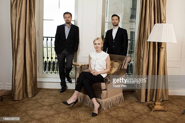 Actors Leonardo DiCaprio Carey Mulligan Tobey Maguire are photographed for USA Today on April 28 2013 in New York City PUBLISHED IMAGE