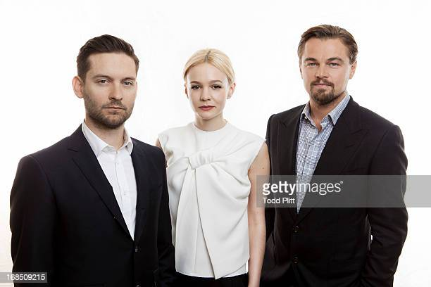 Actors Leonardo DiCaprio Carey Mulligan Tobey Maguire are photographed for USA Today on April 28 2013 in New York City