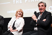 Actors Lesley Nicol and Jim Carter speak onstage at the 'Downton Abbey' For Your Consideration panel at Linwood Dunn Theater at the Pickford Center...