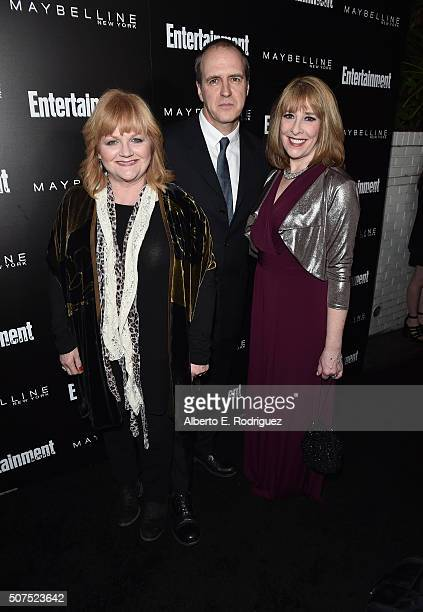 Actors Lesley Nicol Kevin Doyle and Phyllis Logan attend Entertainment Weekly's celebration honoring THe Screen Actors Guild presented by Maybeline...