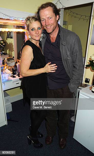 Actors Lesley Sharp and Iain Glen attend the press night of 'The Rise And Fall Of Little Voice' at The Vaudeville Theatre on October 20 2009 in...