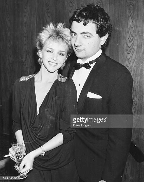 Actors Leslie Ash and Rowan Atkinson at an awards ceremony in London January 31st 1984