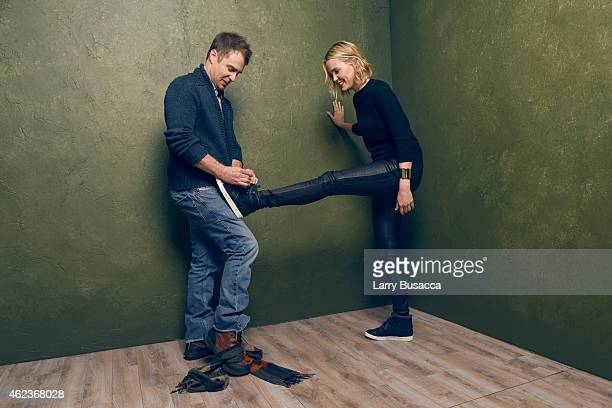 Actors Leslie Bibb and Sam Rockwell of 'Don Verdean' pose for a portrait at the Village at the Lift Presented by McDonald's McCafe during the 2015...
