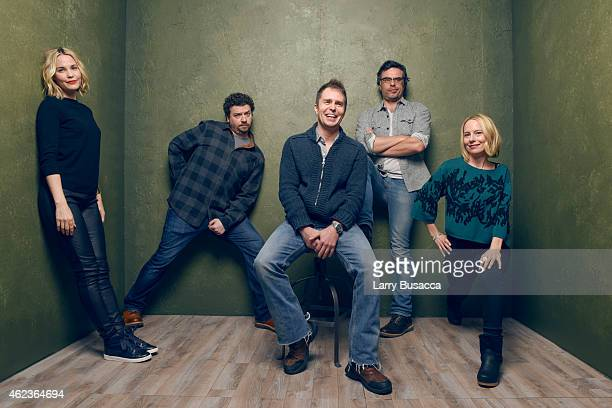 Actors Leslie Bibb Danny McBride Sam Rockwell Jemaine Clement and Amy Ryan of 'Don Verdean' pose for a portrait at the Village at the Lift Presented...