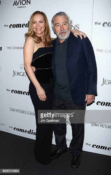 Actors Leslie Mann and Robert De Niro attend the screening of Sony Pictures Classics' 'The Comedian' hosted by The Cinema Society with Avion and...