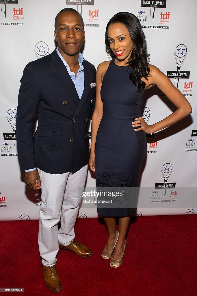 Actors Leslie Odom Jr (L) and Nicolette Robinson attend the 2013 Lucille Lortel Awards at Jack H. Skirball Center for the Performing Arts on May 5, 2013 in New York City.