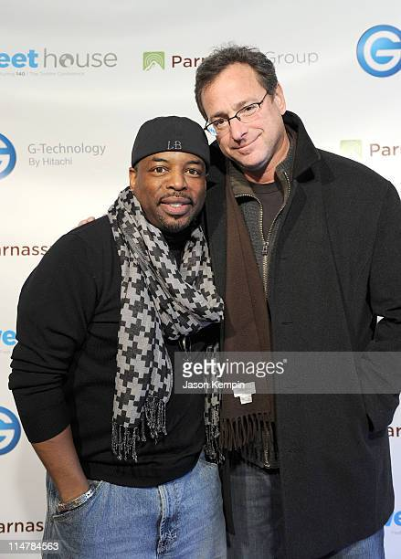 Actors LeVar Burton and Bob Saget attend the Smashbox Tweet House on January 23 2010 in Park City Utah