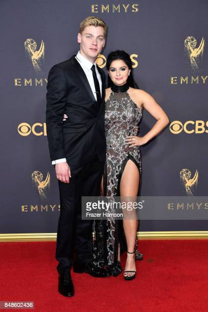 Actors Levi Meaden and Ariel Winter attend the 69th Annual Primetime Emmy Awards at Microsoft Theater on September 17 2017 in Los Angeles California