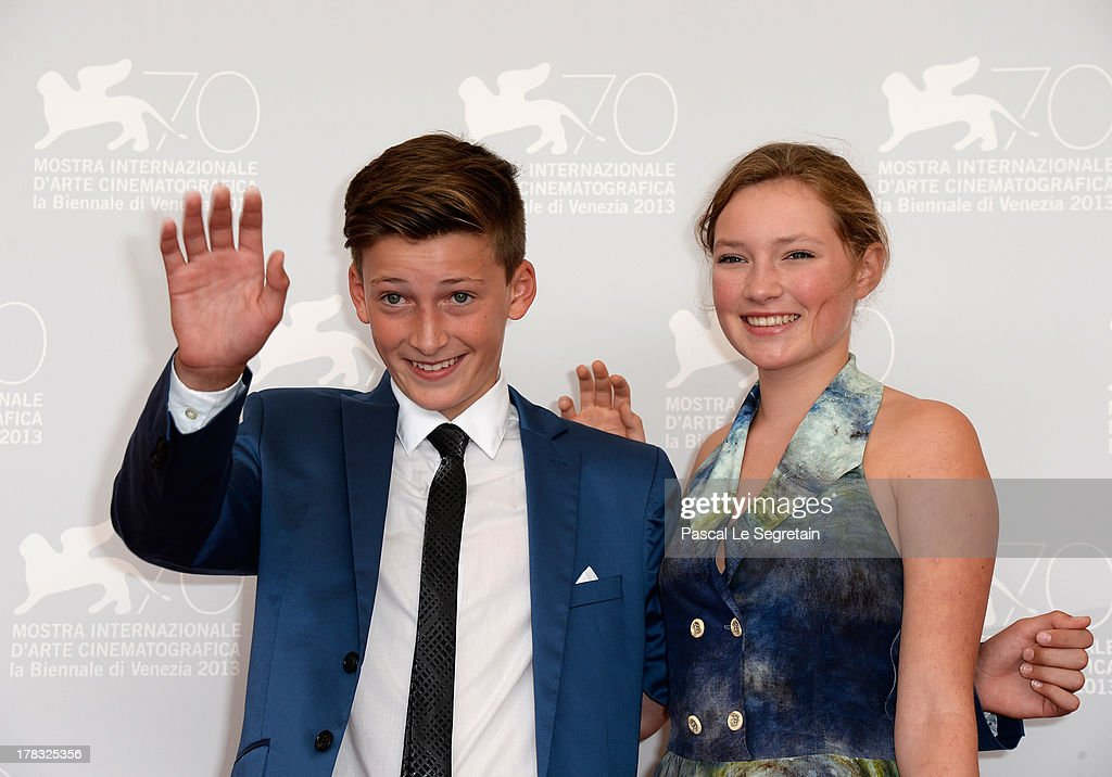 Actors Levin Liam and Helena Phil attend Wolfschildren Photocall during The 70th Venice International Film Festivalon August 29, 2013 in Venice, Italy.
