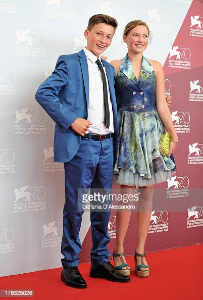 Actors Levin Liam and Helena Phil attend 'Wolfskinder' Photocall during the 70th Venice International Film Festival on August 29 2013 in Venice Italy