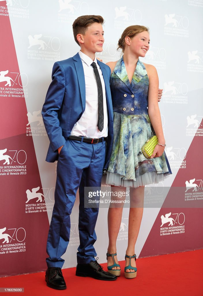Actors Levin Liam and Helena Phil attend 'Wolfskinder' Photocall during the 70th Venice International Film Festival on August 29, 2013 in Venice, Italy.