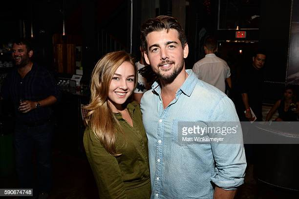 Actors Lexi Ainsworth and John Deluca attend MJ Dougherty's 'Life Lessons from a Total Failure' book launch party at The Sandbox on August 16 2016 in...