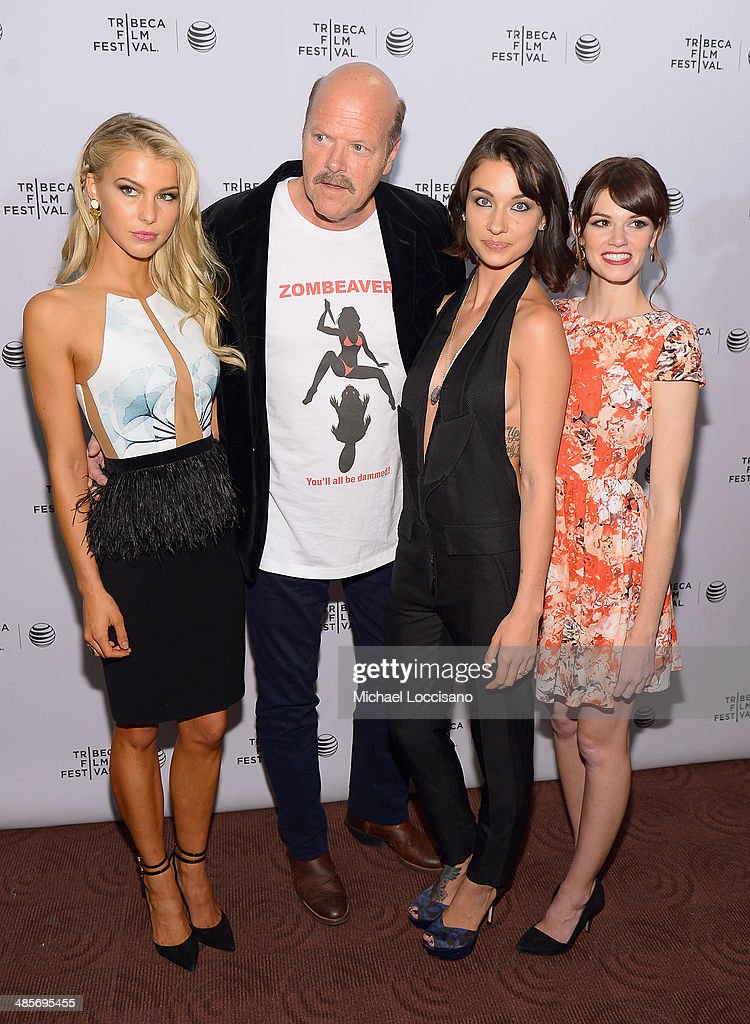 Actors Lexi Atkins, Rex Linn, Cortney Palm and Rachel Melvin attend the 'Zombeavers' Premiere during the 2014 Tribeca Film Festival at Chelsea Bow Tie Cinemas on April 19, 2014 in New York City.