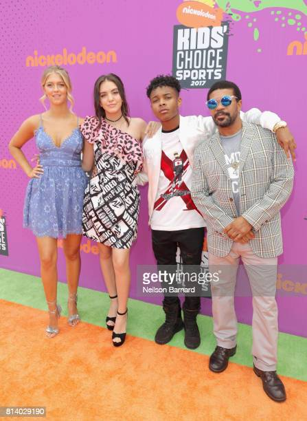 Actors Lexi DiBenedetto Lilimar Amarr M Wooten and Kelly Perine attend Nickelodeon Kids' Choice Sports Awards 2017 at Pauley Pavilion on July 13 2017...