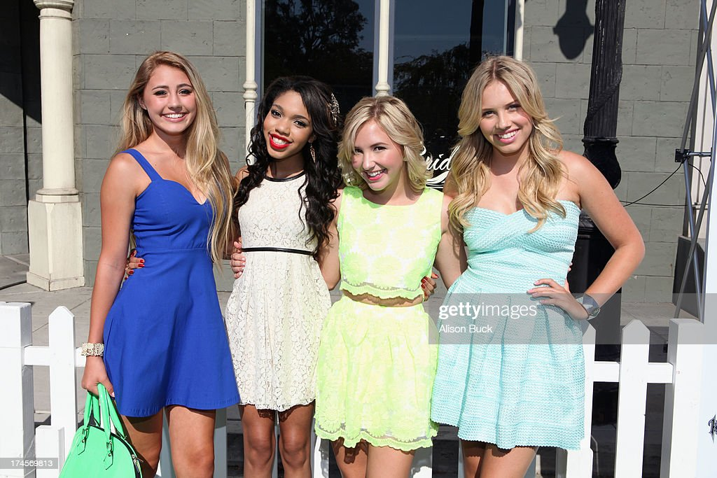 Actors Lia Marie Johnson, Teala Dunn, Audrey Whitby and Gracie Dzienny attend Variety's Power of Youth presented by Hasbro, Inc. and generationOn at Universal Studios Backlot on July 27, 2013 in Universal City, California.