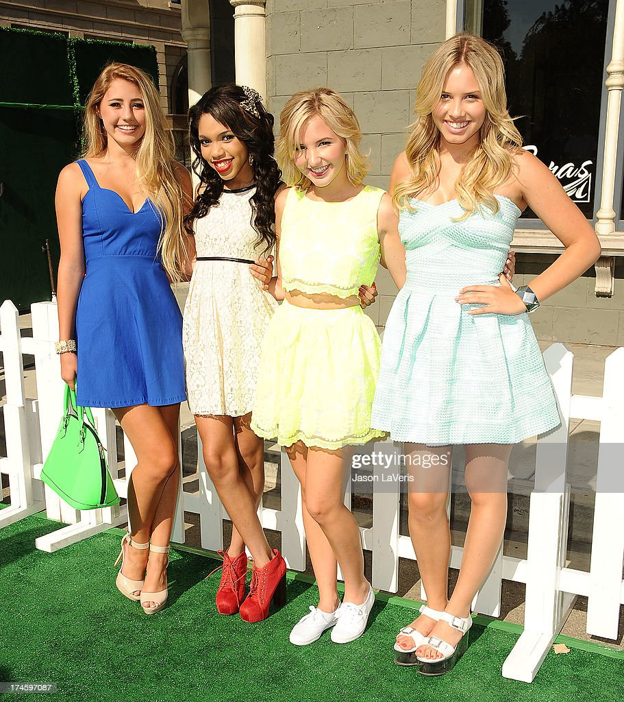 Actors Lia Marie Johnson, Teala Dunn, Audrey Whitby, and Gracie Dzienny attend Variety's 7th annual Power of Youth event at Universal Studios Hollywood on July 27, 2013 in Universal City, California.
