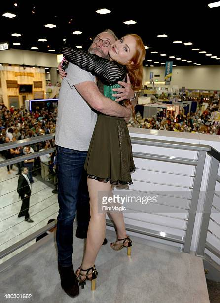 Actors Liam Cunningham and Sophie Turner at the 'Game Of Thrones' autograph signing during ComicCon International 2015 at the San Diego Convention...