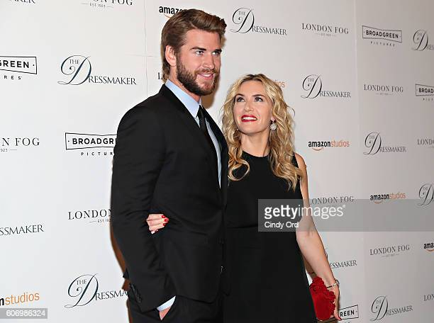 Actors Liam Hemsworth and Kate Winslet attend as London Fog presents a New York special screening of 'The Dressmaker' on September 16 2016 in New...