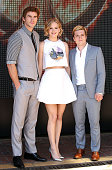 Actors Liam Hemsworth Jennifer Lawrence and Josh Hutcherson attends the 'The Hunger Games Mockingjay Part 1' Photocall at the 67th Annual Cannes Film...