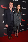 Actors Liev Schreiber and Katie Holmes attend the For Your Consideration screening and panel for Showtime's 'Ray Donovan' at Paramount Theatre on...