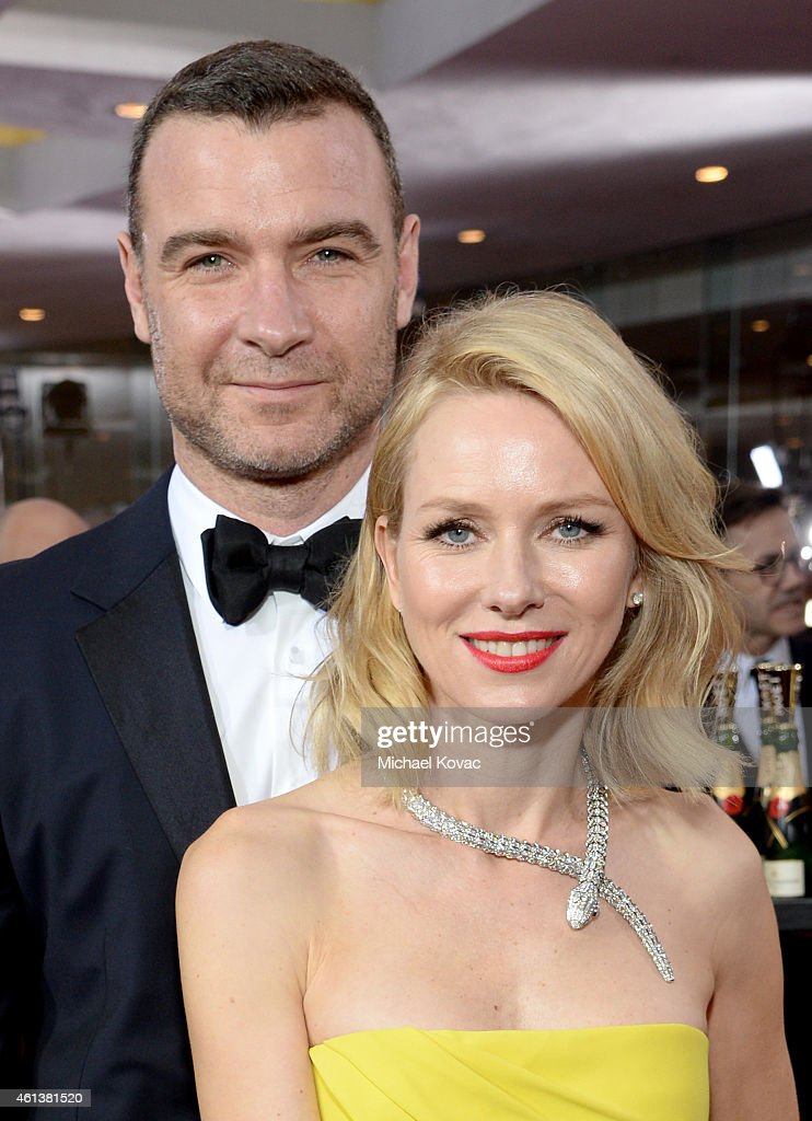Actors Liev Schreiber (L) and Naomi Watts attend the 72nd Annual Golden Globe Awards at The Beverly Hilton Hotel on January 11, 2015 in Beverly Hills, California.