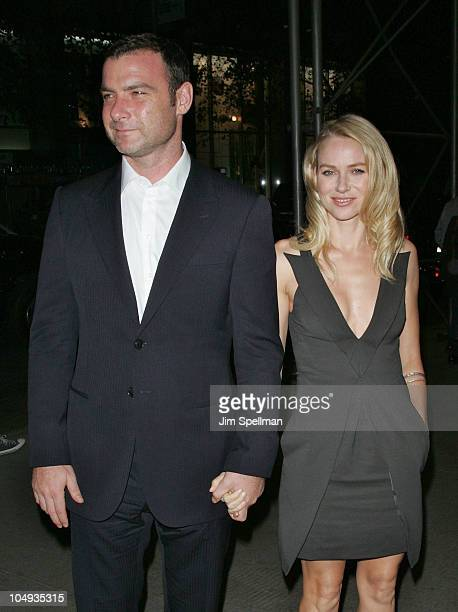 Actors Liev Schreiber and Naomi Watts attend the Giorgio Armani The Cinema Society screening of 'Fair Game' at The Museum of Modern Art on October 6...