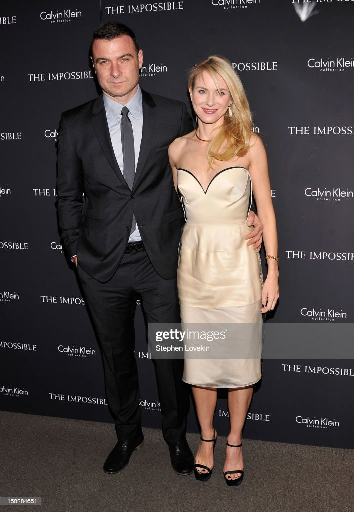 Actors Liev Schreiber and Naomi Watts attend 'The Impossible' New York special screening at Museum of Art and Design on December 12, 2012 in New York City.