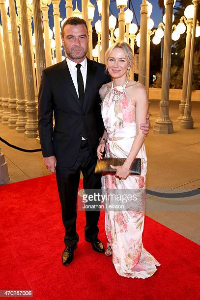 Actors Liev Schreiber and Naomi Watts attend the LACMA 50th Anniversary Gala sponsored by Christie's at LACMA on April 18 2015 in Los Angeles...