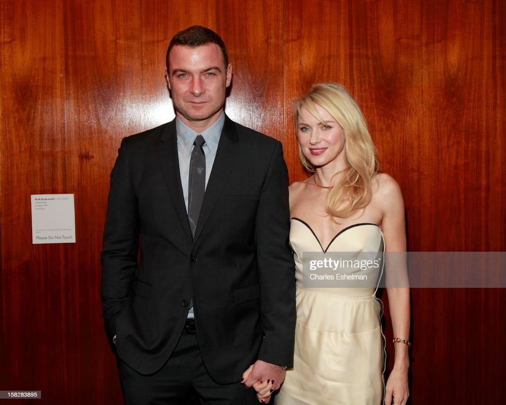 Actors Liev Schreiber and Naomi Watts attends 'The Impossible' screening at the Museum of Art and Design on December 12, 2012 in New York City.