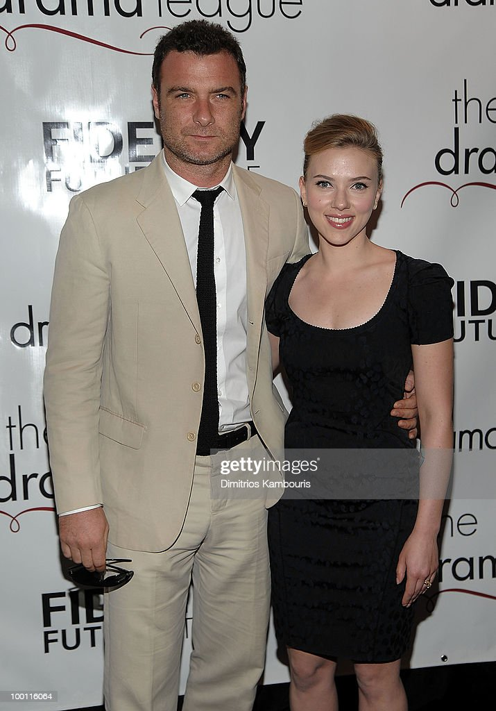Actors Liev Schreiber and Scarlett Johansson attend the 76th Annual Drama League Awards ceremony and luncheon at the Marriot Marquis on May 21, 2010 in New York City.
