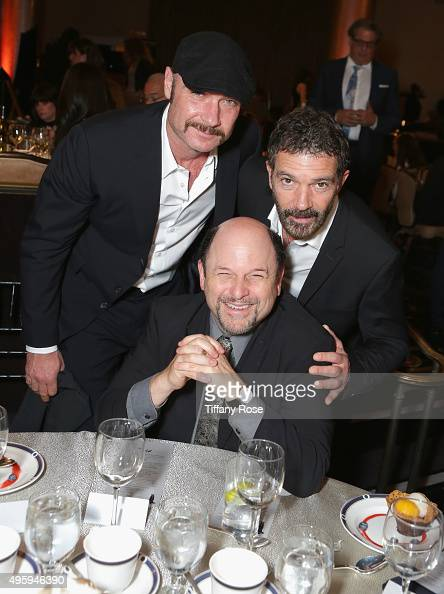 Actors Liev Schreiber Jason Alexander and Antonio Banderas attend Friends Of The Israel Defense Forces Western Region Gala at The Beverly Hilton...