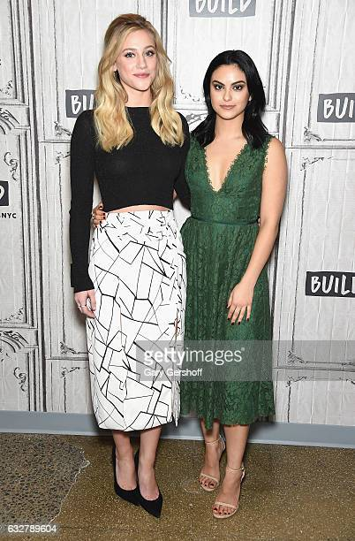 Actors Lili Reinhart and Camila Mendes attend Build Series to discuss the new teen drama series 'Riverdale' at Build Studio on January 26 2017 in New...