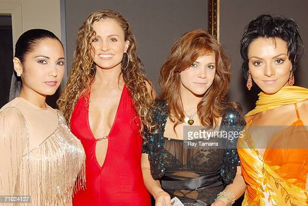 Actors Lilibeth Morillo Aura Cristina Geithner Julyie Giliberti and Ivonne Montero attend Telemundo's Upfront 2006 at Jazz At Lincoln Center on May...