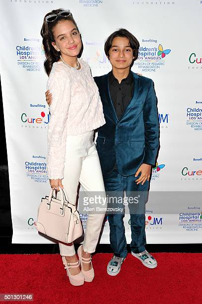 Actors Lilimar Hernandez and Rio Mangini attend the 12th Annual Holiday Toy Drive hosted by CURE JM benefiting Children's Hospital Of Los Angeles at...