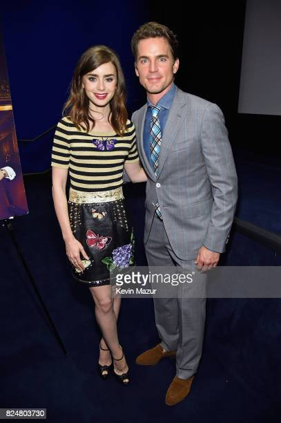 Actors Lily Collins and Matt Bomer attend The Last Tycoon New York Special Screening VIP Reception at the Whitby Hotel on July 25 2017 in New York...