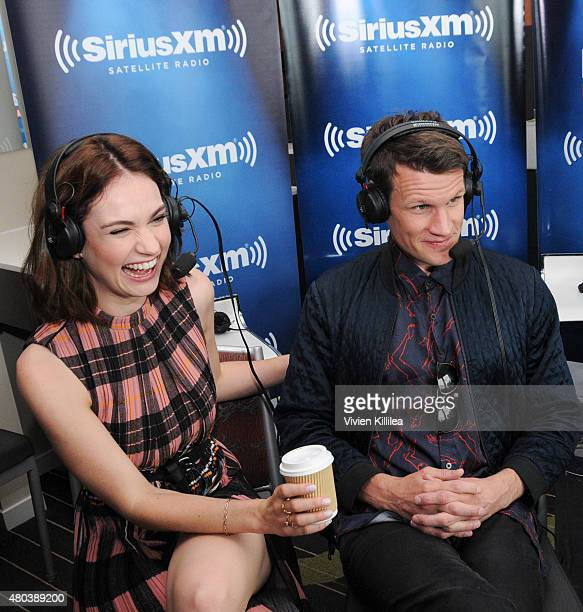Actors Lily James and Matt Smith attend SiriusXM's Entertainment Weekly Radio Channel Broadcasts From ComicCon 2015 at Hard Rock Hotel San Diego on...