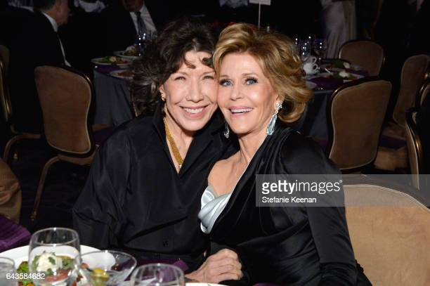 Actors Lily Tomlin and Jane Fonda attend The 19th CDGA with Presenting Sponsor LACOSTE at The Beverly Hilton Hotel on February 21 2017 in Beverly...