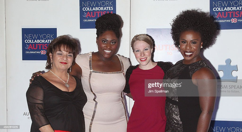 Actors Lin Tucci, <a gi-track='captionPersonalityLinkClicked' href=/galleries/search?phrase=Danielle+Brooks&family=editorial&specificpeople=8868624 ng-click='$event.stopPropagation()'>Danielle Brooks</a>, Emma Myles and Uzo Aduba attend the 2013 Winter Ball For Autism the at Metropolitan Museum of Art on December 2, 2013 in New York City.