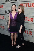 Actors Lina Cardellini and Sissy Spacek attend the Premiere of Netflix's 'Bloodline' at Westwood Village Theatre on May 24 2016 in Westwood California