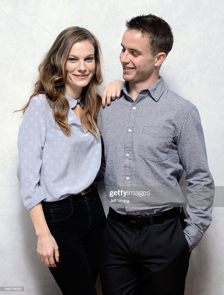Actors Lindsay Burdge (L) and Will Brittain pose for a portrait during the 2013 Sundance Film Festival at the WireImage Portrait Studio at Village At The Lift on January 20, 2013 in Park City, Utah.